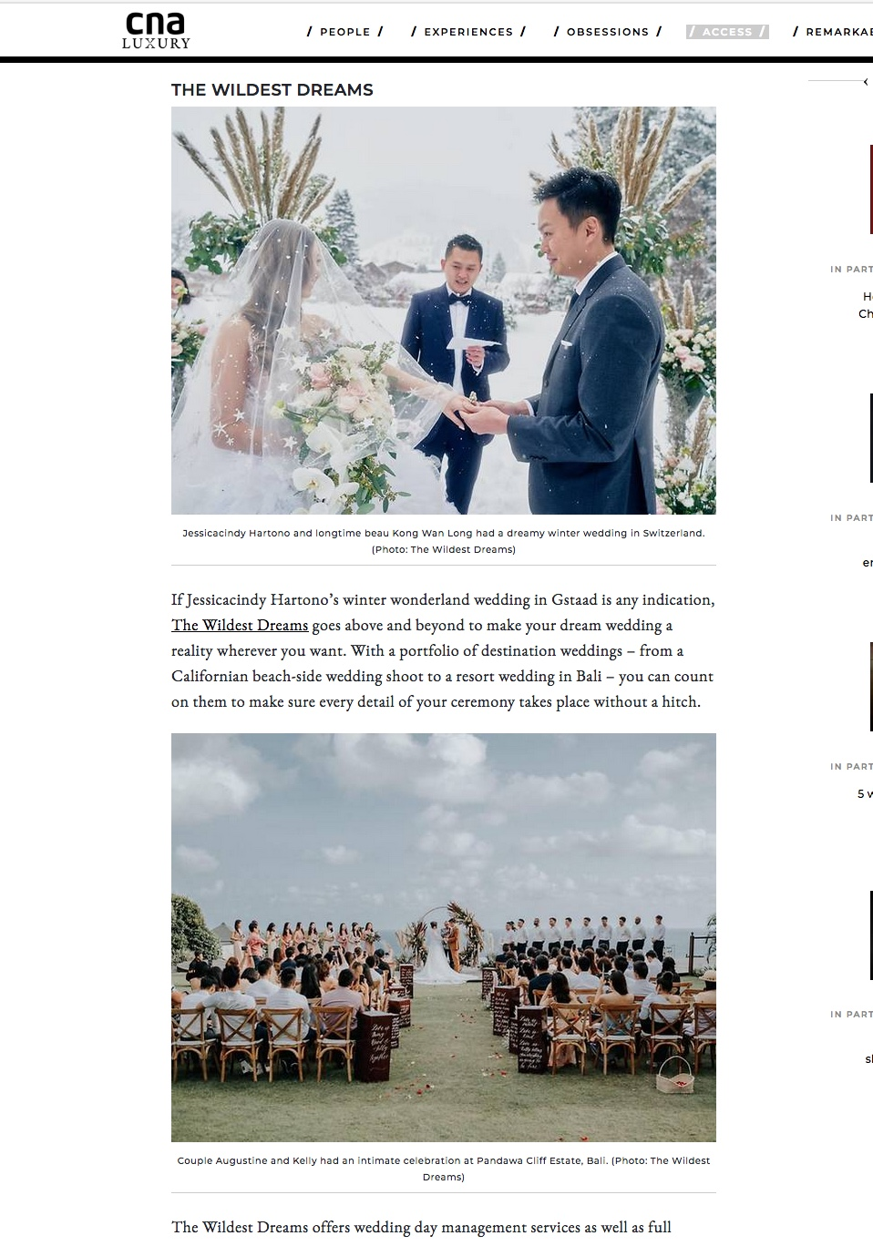 CNA Luxury - top wedding planner in singapore
